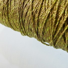 Metallized threads gold and lime green