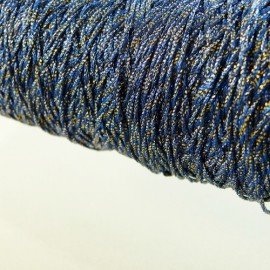 Metallized threads gold and navy blue