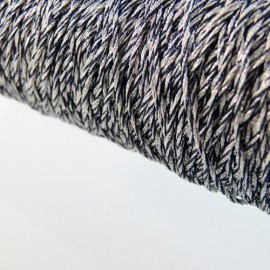 Metallized threads silver and black