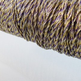Metallized threads purple, gold and silver