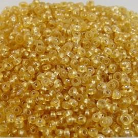 Antic seed bead 2 mm light gold  S/L opal