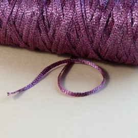 Viscose ribbon 3 mm purple with purple sparkle