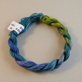 6 strands cotton from green to purple n°24