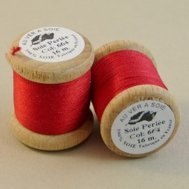 Perlé silk red Au ver à Soie n° 664