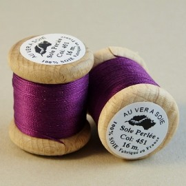 Perlé silk plum Au ver à Soie n° 451