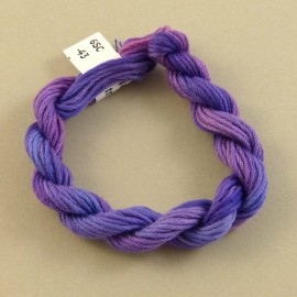 6 strands cotton from mauve to purple n°43