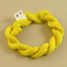 Fine perlé cotton color-changing light yellow n°08