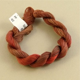 Fine perlé cotton color-changing dark orange n°07