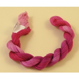 Fine perlé cotton color-changing fuchsia n°35
