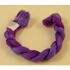 Fine perlé cotton color-changing purple n°37