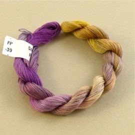 Fine perlé cotton from mauve to dark yellow n°39