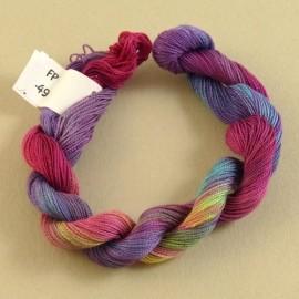 Fine perlé cotton raimbow n°49
