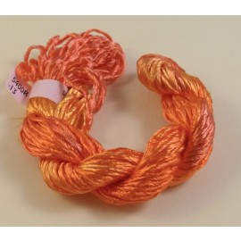 Heavy rayon light orange color-changing