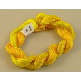 Fine perlé rayon yellow color-changing