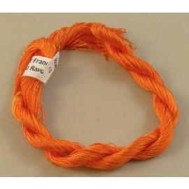 Fine perlé rayon orange color-changing
