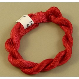 Fine perlé rayon red color-changing