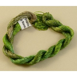 Fine perlé rayon green tea color-changing