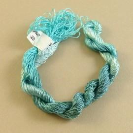 Fine perlé rayon aquamarine color-changing