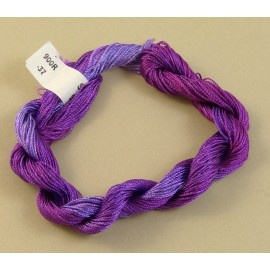 Fine perlé rayon purple color-changing