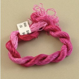 Fine perlé rayon fuchsia color-changing