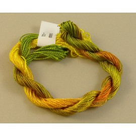 Medium perlé rayon yellow orange and green