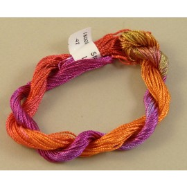 Medium perlé rayon orange fuchsia and purple