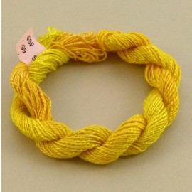 Spun silk with flames yellow color-changing