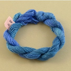 Spun silk with flames blue color-changinge