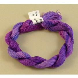 Fine mercerized cotton color-changing purple n° 37