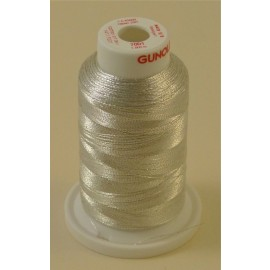 Metallic thread light silver « Gunold » n°71