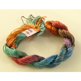 Filament silk from green to orange n°01