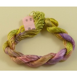 Filament silk green moss and light pink n°51