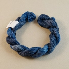 Fine perlé cotton from grey blue to cobalt n°02