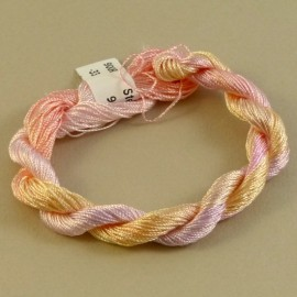 Fine perlé rayon light pink color-changing