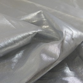 Paper lame fabric silver