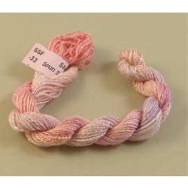 Spun silk with flames light pink color-changing