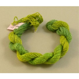 Spun silk with flames light green color-changing