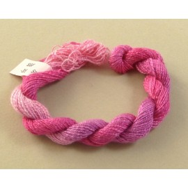 Spun silk with flames fuchsia color-changing