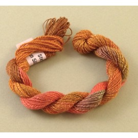 Spun silk with flames dark orange color-changinge