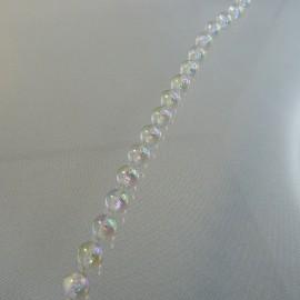 Fil de perles anciennes 7 mm irisées