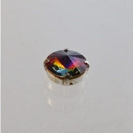 Antic sew on rhinestone Rivoli 12 mm iridescent purple