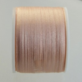 Silk ribbon 4 mm light salmon
