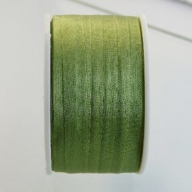 Silk ribbon 7 mm green tea