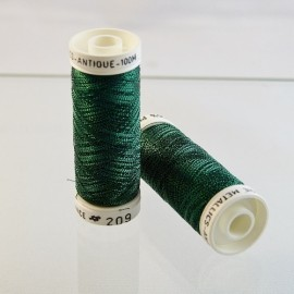 Metallic thread dark green « Au Sextant » n°209