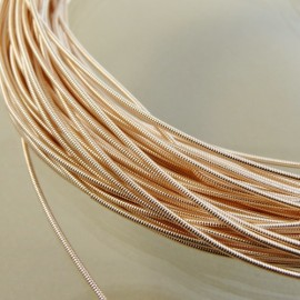 Pinky gold pearl purl 1 mm