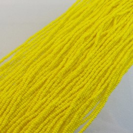 Seed bead 2 mm op. Yellow on strand