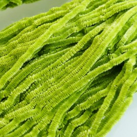 Silk chenille light olive green Au Ver à Soie