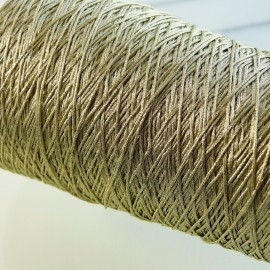 10 strands metallized fine thread light gold