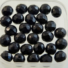 Antic faceted bead 8 mm black