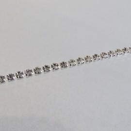 Rhinestone cup chain 2 mm crystal
